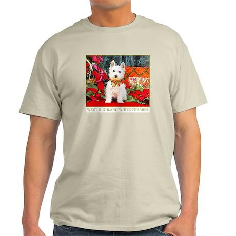 West Highland Westie Christmas Ash Grey T-Shirt