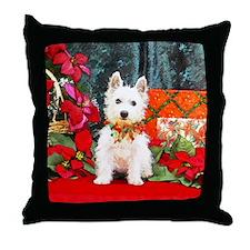 West Highland Westie Christmas Throw Pillow