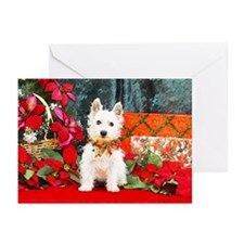 West Highland Westie Christmas Greeting Cards (Pac