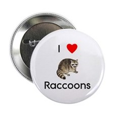 """I Love Raccoons 2.25"""" Button (10 pack)"""