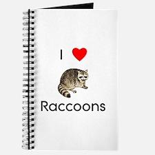I Love Raccoons Journal