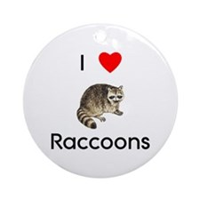 I Love Raccoons Ornament (Round)