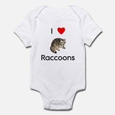 I Love Raccoons Infant Bodysuit