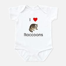 I Love Raccoons Onesie