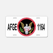 AFGE1164BlackCap2.gif Aluminum License Plate