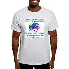 AFGE1122WeekendLight.gif T-Shirt