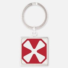Army8thArmyPatchDennis.gif Square Keychain