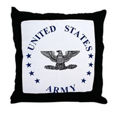 ArmyColonel2.gif Throw Pillow
