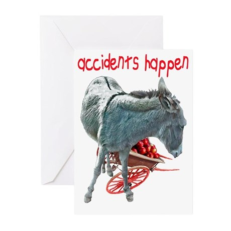 ASS OVER APPLE CART Greeting Cards (Pk of 10)