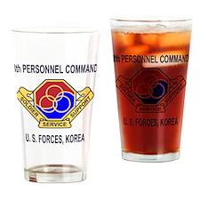 Army8thPersonnelCommandShirt5ForStr Drinking Glass