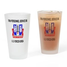Army516thPersonnelServiceBnBlackJum Drinking Glass
