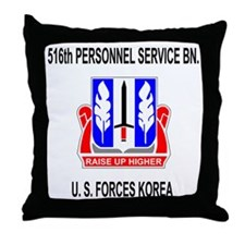 Army516thPersonnelServiceBnBlackJumpe Throw Pillow