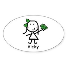 Frog - Vicky Oval Decal
