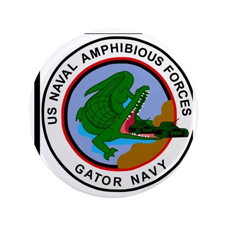 "NavyGatorNavyYellowShirt.gif 3.5"" Button"