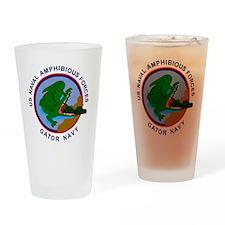 NavyGatorNavyClock.gif Drinking Glass