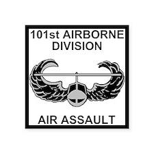 "Army101stAirborneDivShirt3. Square Sticker 3"" x 3"""