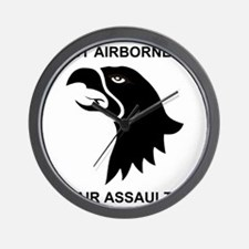 Army101stAirborneDivisionShirtBack.gif Wall Clock