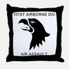 Army101stAirborneDivisionShirtBack.gi Throw Pillow