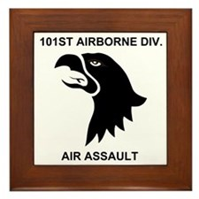 Army101stAirborneDivisionShirtBack.gif Framed Tile
