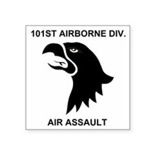 "Army101stAirborneDivisionSh Square Sticker 3"" x 3"""