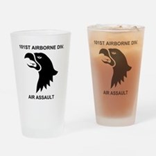 Army101stAirborneDivisionShirtBack. Drinking Glass