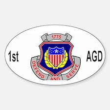 Army1stAGDetachmentCap.gif Sticker (Oval)