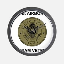 Army101stAirborneVietnamShirtbackSubdue Wall Clock