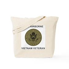 Army101stAirborneVietnamShirtbackSubdued. Tote Bag