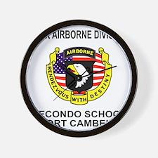 Army101stAirborneRecondoShirtBackColor. Wall Clock