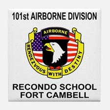 Army101stAirborneRecondoShirtBackColo Tile Coaster