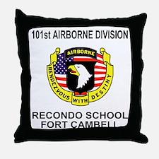 Army101stAirborneRecondoShirtBackColo Throw Pillow