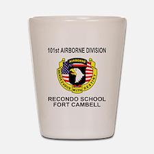 Army101stAirborneRecondoShirtBackColor. Shot Glass