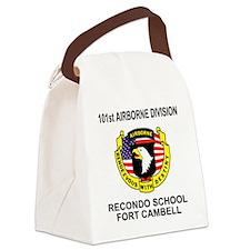 Army101stAirborneRecondoShirtBack Canvas Lunch Bag
