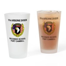Army101stAirborneRecondoShirtBackCo Drinking Glass
