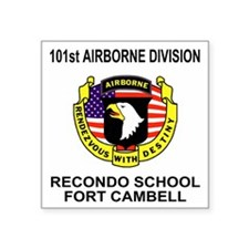 "Army101stAirborneRecondoShi Square Sticker 3"" x 3"""