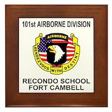 Army101stAirborneRecondoShirtBackColor Framed Tile