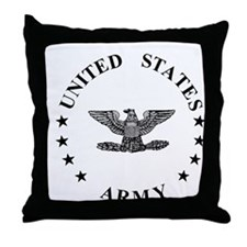 ArmyColonel3.gif Throw Pillow