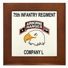Army101stAirborneDivLCompany75thShirt. Framed Tile