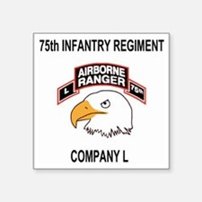 "Army101stAirborneDivLCompan Square Sticker 3"" x 3"""
