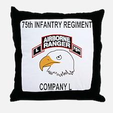 Army101stAirborneDivLCompany75thShirt Throw Pillow