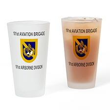 Army101stAviationBrigadeShirt2.gif Drinking Glass