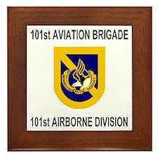 Army101stAviationBrigadeShirt2.gif Framed Tile