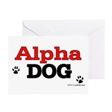 Alpha Dog Greeting Cards (Pk of 10)