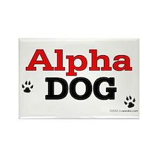 Alpha Dog Rectangle Magnet