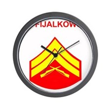 USMCFijalkowski3.gif Wall Clock