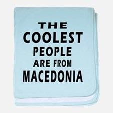 The Coolest Macedonia Designs baby blanket