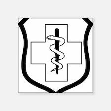 """USAFEnlistedMedicalBadgeX.g Square Sticker 3"""" x 3"""""""