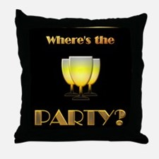 Where's the Party? Throw Pillow