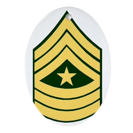 ArmySergeantMajorForCupsBonnie.gif Oval Ornament