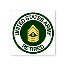 "ArmyRetiredFirstSergeant.gi Square Sticker 3"" x 3"""